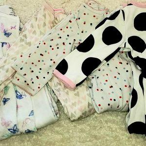 Carters and cloud nine pajama onesies 9 months